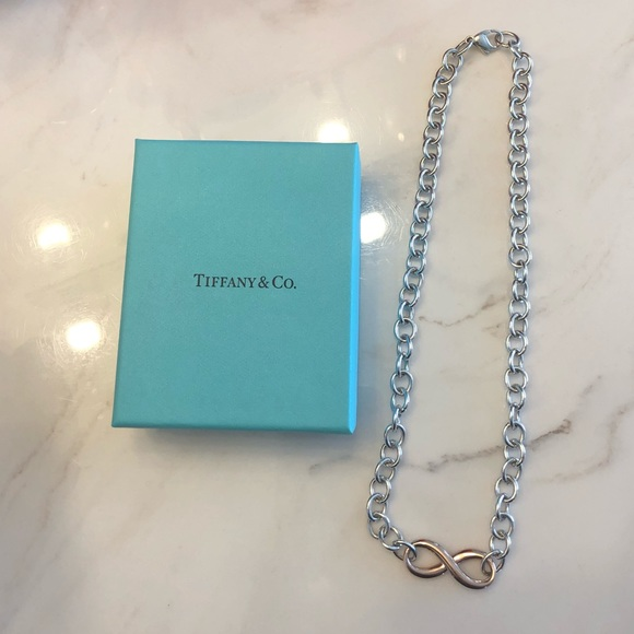 060f9ed83 Tiffany & Co. Jewelry | Tiffany Co Infinity Necklace 18 | Poshmark